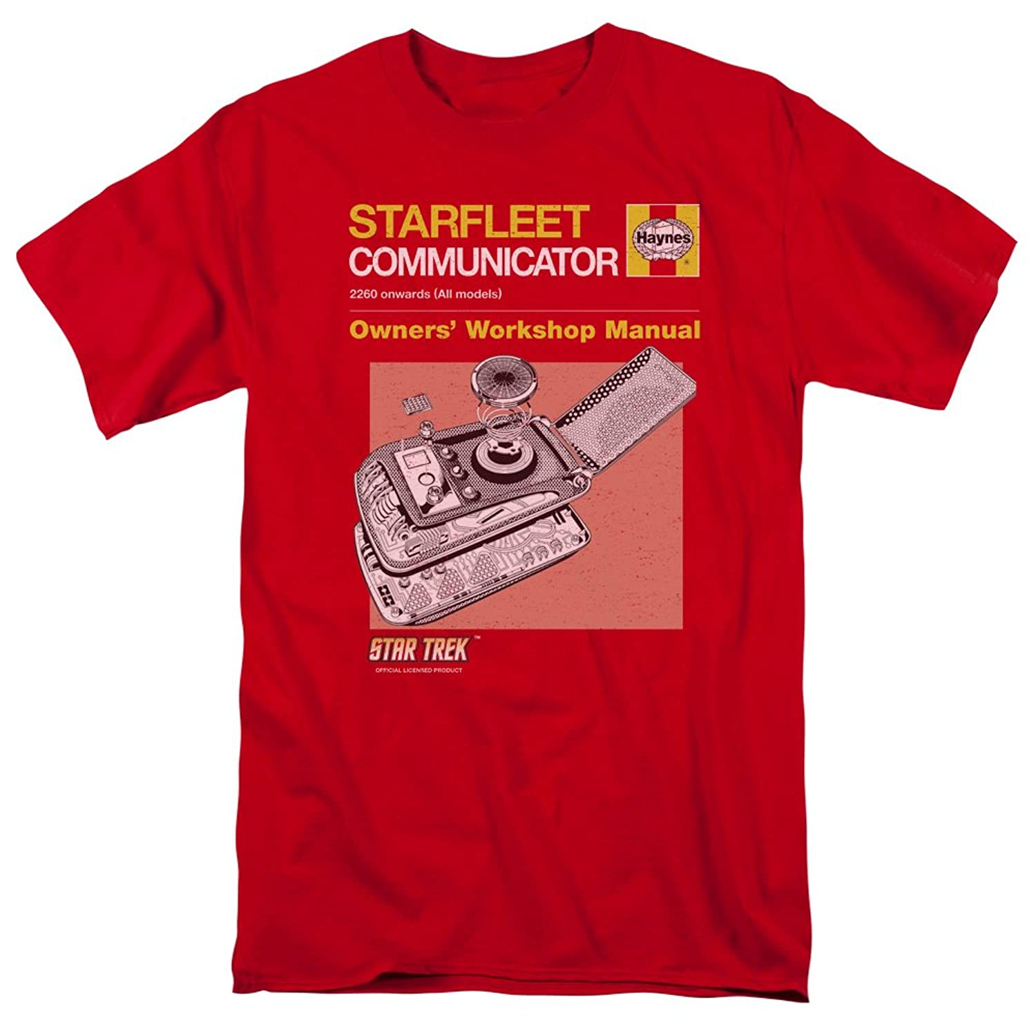Star Trek - Mens Comm Manual T-Shirt