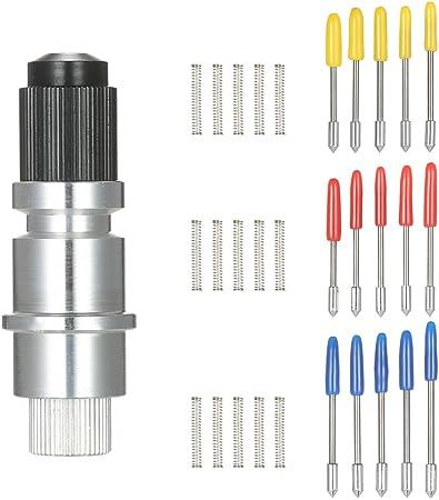KKmoon 15pcs 30 ° 45 ° 60 ° alta dureza cuchillas con base de soporte para cortador de vinilo Plotter cuchillas de corte de cuchilla para Graphtec CB09 CB09U Silhouette Cameo: Amazon.es: Bricolaje y herramientas