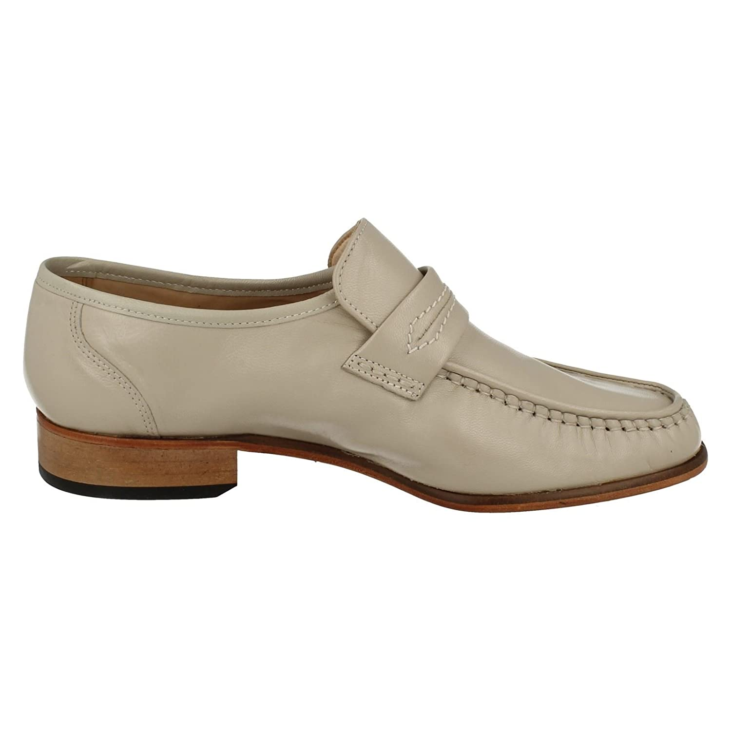 LEATHER IVORY WATFORD GRENSON MENS MOCCASIN G FITTING
