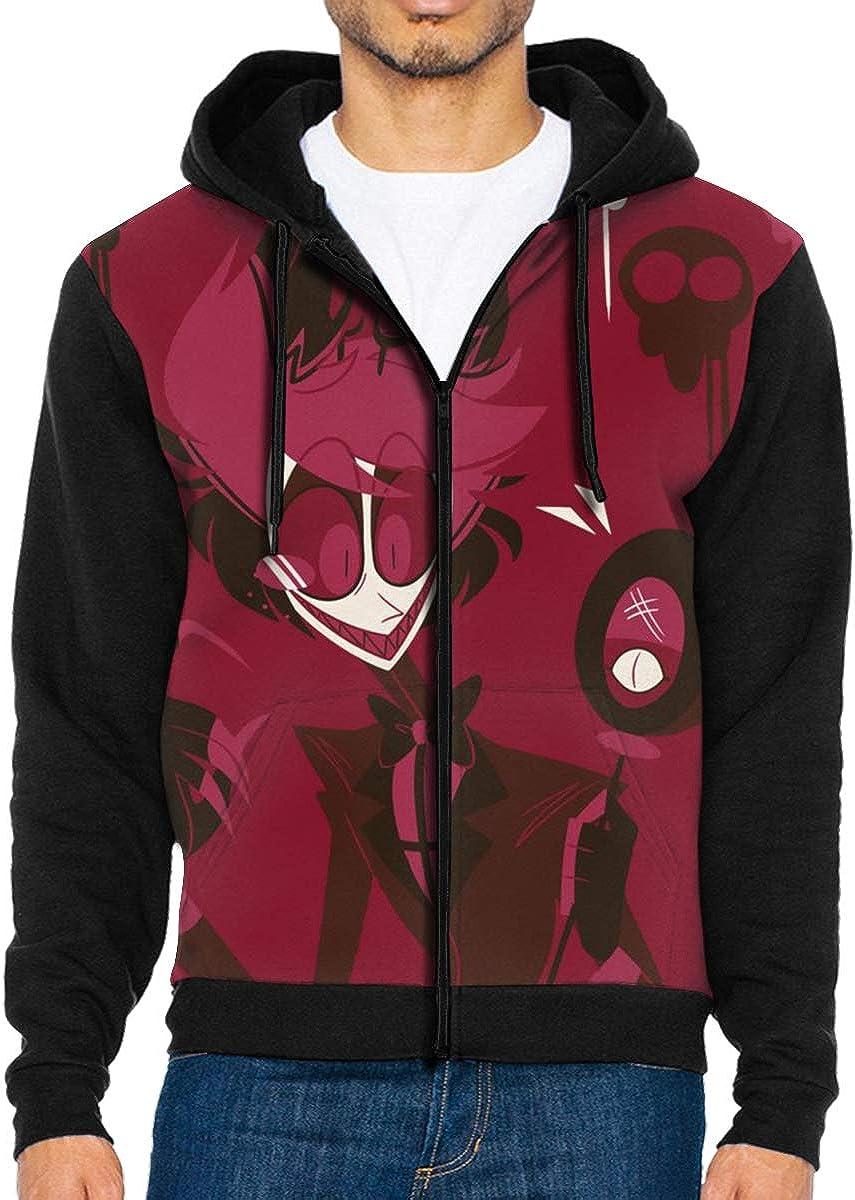Glenn Isidore Haz-bin Hote Mens Full-Zip Hooded Sweatshirt Pullover Hoodie Casual Hoodie with Pockets