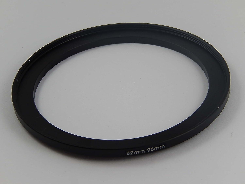 vhbw Filtro Adaptador de Metal Step up 82mm-95mm Negra para cámara, Objetivo, Filtro, Lentes, Accesorios de Lente
