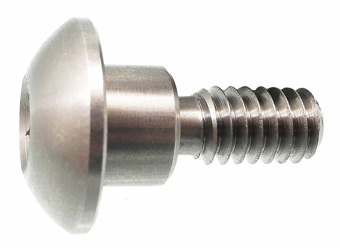 Architectural Bolt,SS,Button,5/8x1/2In