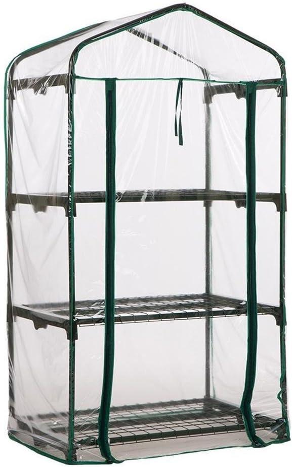 Marco no Value Cubierta Transparente para Plantas dom/ésticas con Cremallera Carpa de jard/ín c/álida para Semillas de Interior al Aire Libre Cultivo Cherishly Mini Invernadero de PVC de 3 Niveles