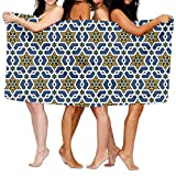 FbaPan Seamless Islamic Geometric Over-Sized Cotton Bath Beach Travel Towels 31x51 Inch