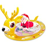 Tummy time Baby Water Cushion Baby Toy Christmas Deer Inflatable Play mat 3 6 9 Months Newborn Baby boy and Girl