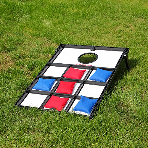 Sports Festival Wood Cornhole Board Bean Bag Toss Game Set