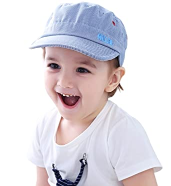 a7378408d0d Superora Boys Baseball Peak Bucket Basin Sun Hat Cap Blue Stripes Wide Brim  for Daily Casual Outdoor Wear  Amazon.co.uk  Clothing