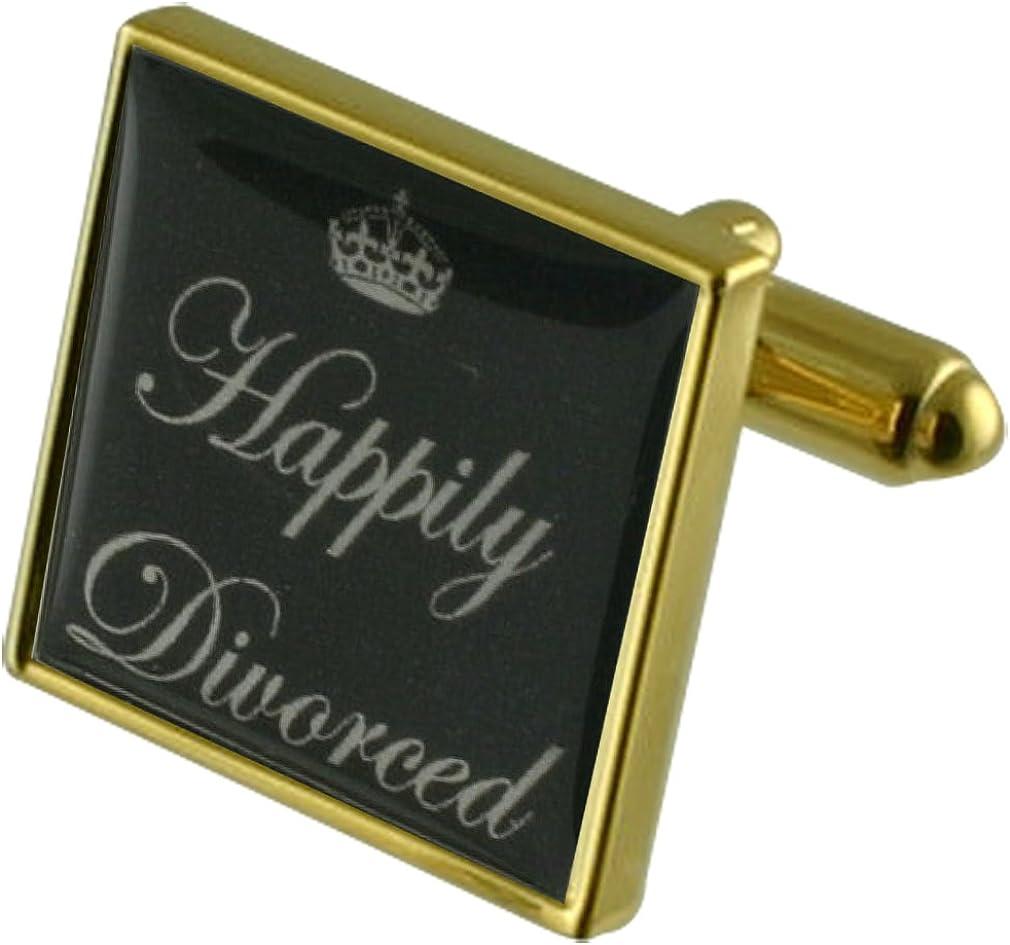 Felizmente divorciada Gemelos de oro con una selección de bolsa de regalo