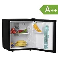 Amstyle Minikühlschrank 46 Liter Minibar Schwarz freistehender Mini Kühlschrank Klein 5°-15°C Energieklasse A+ Tischkühlschrank ohne Gefrierfach für Getränke Zimmerkühlschrank 230V 46L Geräuscharm