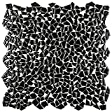 SomerTile Fxljzgb Lio Ceramic Mosaic Floor and Wall Tile, 11.25'' x 11.25'', Glossy Black