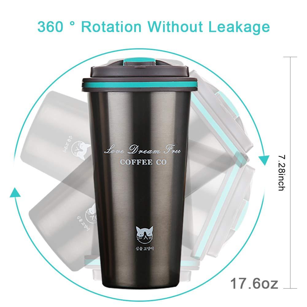 Eco Tazze Mug Senza BPA FAGORY Tazza Termica Tazze da Viaggio Portatile Bottiglia in Acciaio Inossidabile 100/% Sicura e Adatta a Caffe Te e Altre Bevande Doppia Parete Chiusura Ermetica 500ML