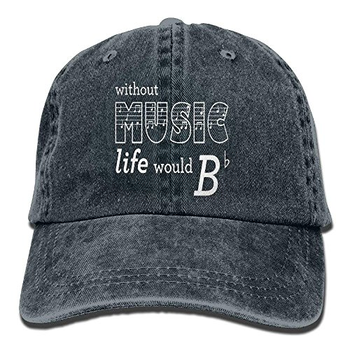 Price comparison product image Basball Hat Without Music Life Would B Flat Cotton Adjustable for Man and Woman