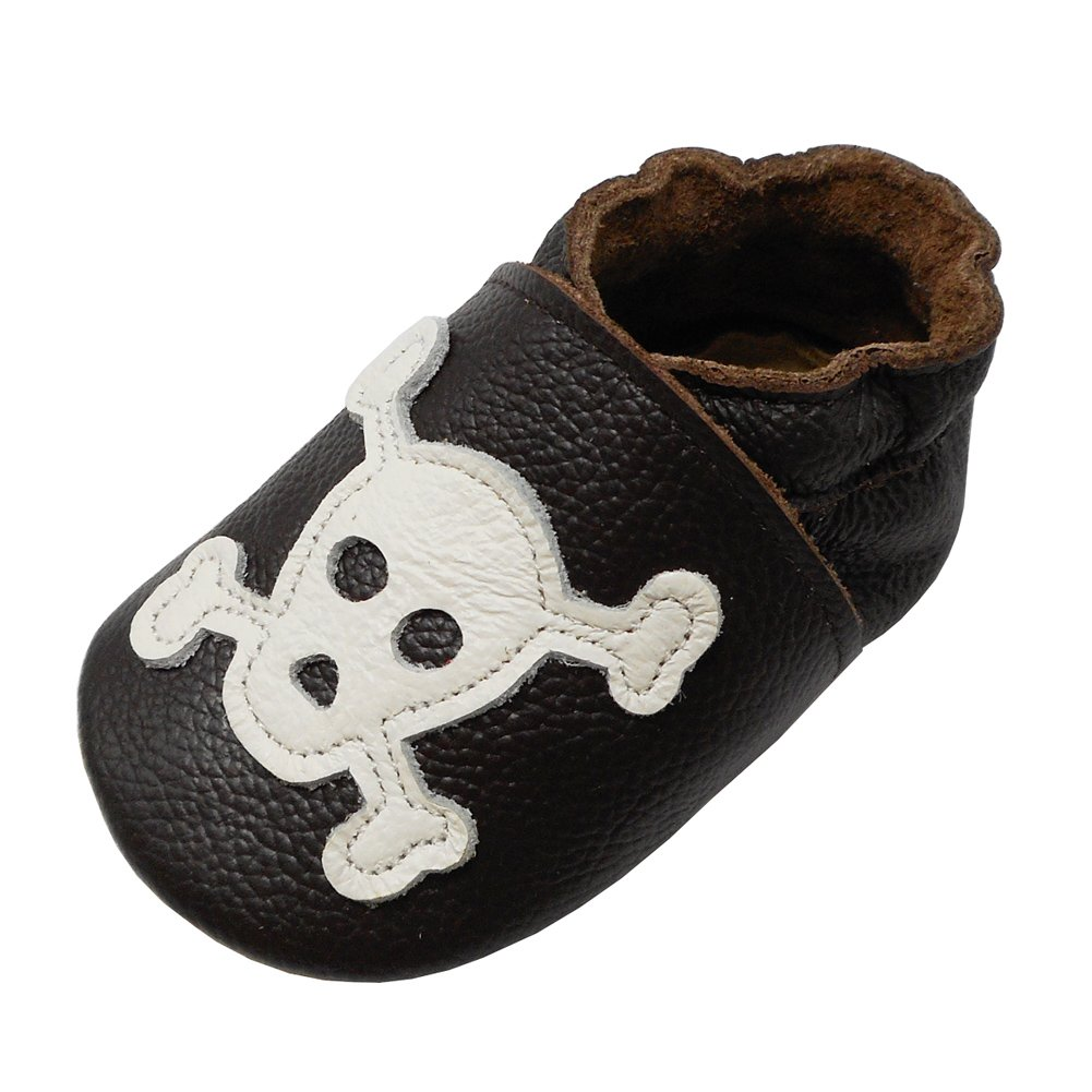 YIHAKIDS Soft Sole Baby Shoes Infant Toddler Leather Moccasins Skull Slip-On Baby Slippers