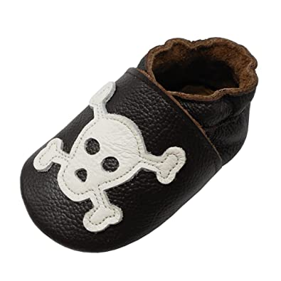 Amazon.com: YIHAKIDS Zapatos de bebé de suela suave de cuero ...
