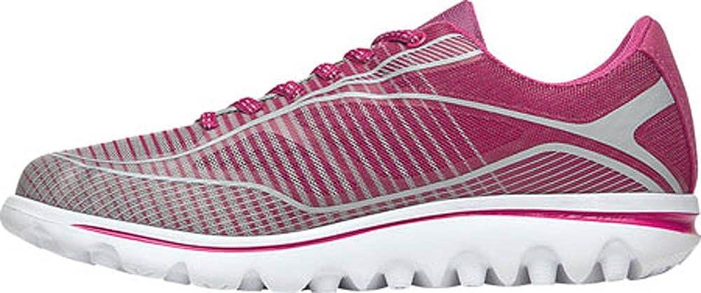 Propet Billie Lace Womens Walking Shoe Pink/Grey(Wide)