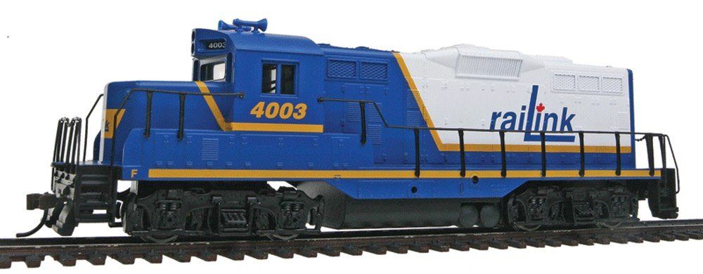 Walthers, Inc. Standard DC Rail Link #4003 Train, Blue/White/Yellow