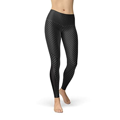 f2aab16e2fb72 Image Unavailable. Image not available for. Color: Carbon Fiber Black  Leggings for Women Non See Through Squat Proof Workout Pants