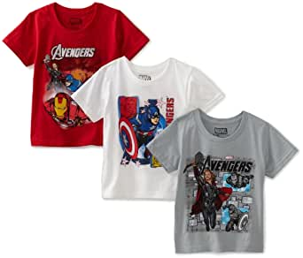 Fruit of the Loom Boys 2-7 Funpals The AvengersCrew Shirt, Assorted, 4(Pack of 3)