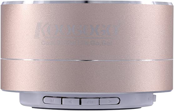 koogogo A10 Mini portátil inalámbrico Bluetooth altavoces Metal Smart manos libres estéreo con fm para Apple/Samsung/Sony/Google/LG dispositivos (dorado): Amazon.es: Electrónica