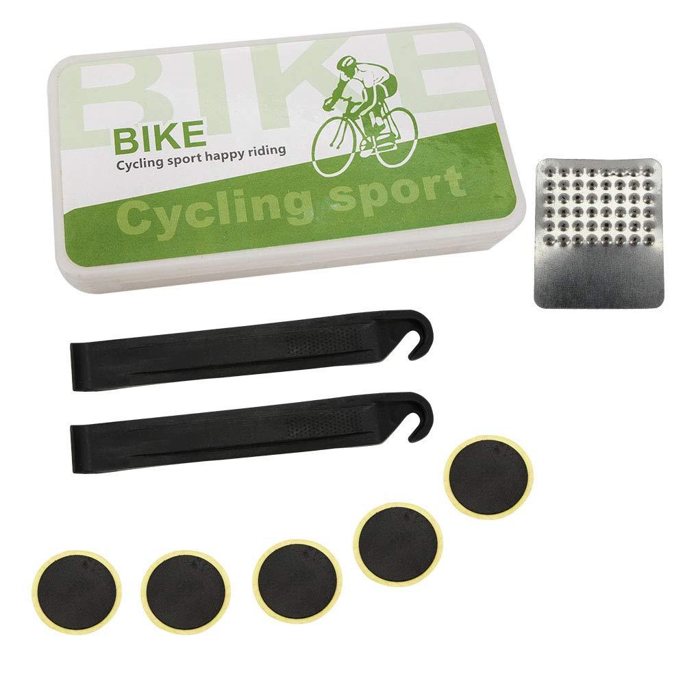 SENZEAL Kit de réparation pour pneus en Plastique TL21Kit de Colle pour pneumatiques Glueless Patch Pneu pour vélo avec Feuille de métal, Protection, sans Colle pour vélo