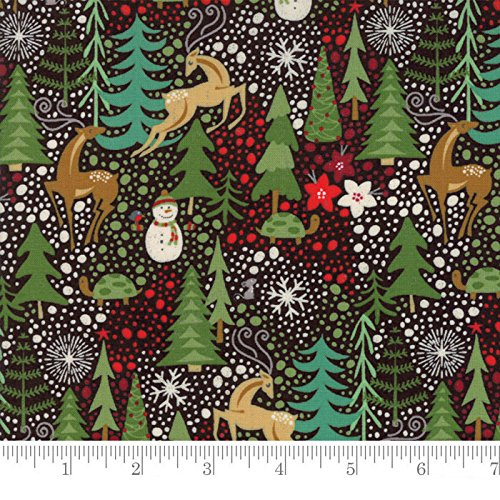 Moda Fabrics Berry Merry Christmas by BasicGrey Reindeer Games (Christmas Fabric)