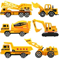 HERSITY Camiones de Construcción Pequeños Juguetes Vehículos