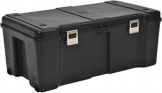 Plastic Rolling Tool Box, 12-1 4 H x 32 W x 17 D, 5429 cu. in., Black