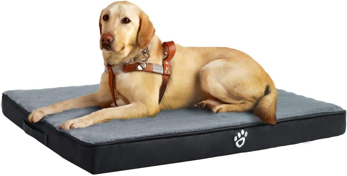 Fristone - Colchón de espuma viscoelástica para perro, con funda extraíble y lavable.
