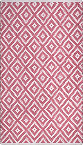 Fab Blush - Fab Habitat Reversible PET Rugs - Handwoven | Indoor or Outdoor Use | Stain Resistant, Easy to Clean Weather Resistant | Chanler - Blush (2' x 3')
