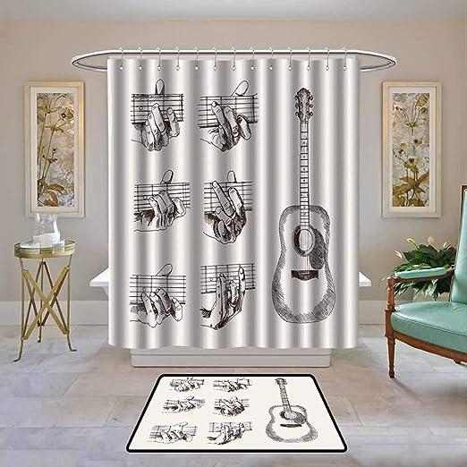 Kenneth Camilla01 Guitarra para cortina de baño, estilo artístico ...