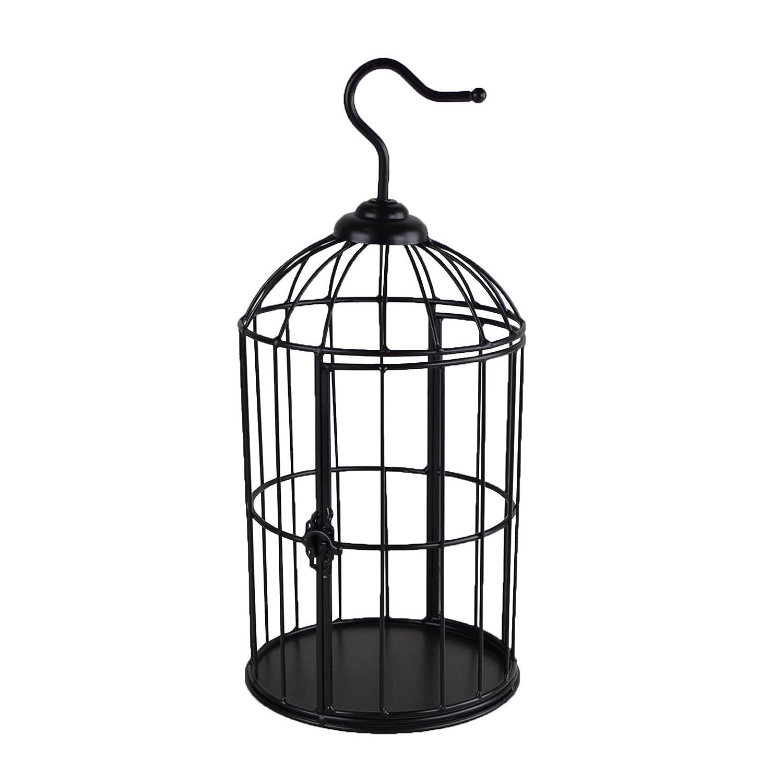 Jaula Decorativa Juego de 3 metal negro 34/46/62 cm Decoración ...