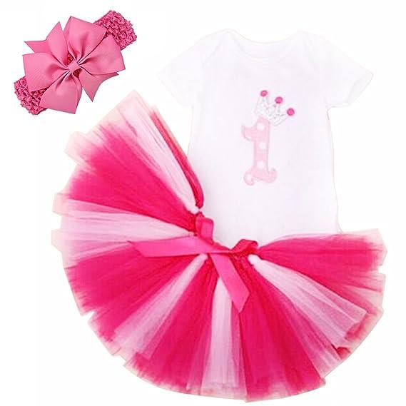 6dc99b934 1er Cumpleaños Body Tutu Set pijama para niña bebé