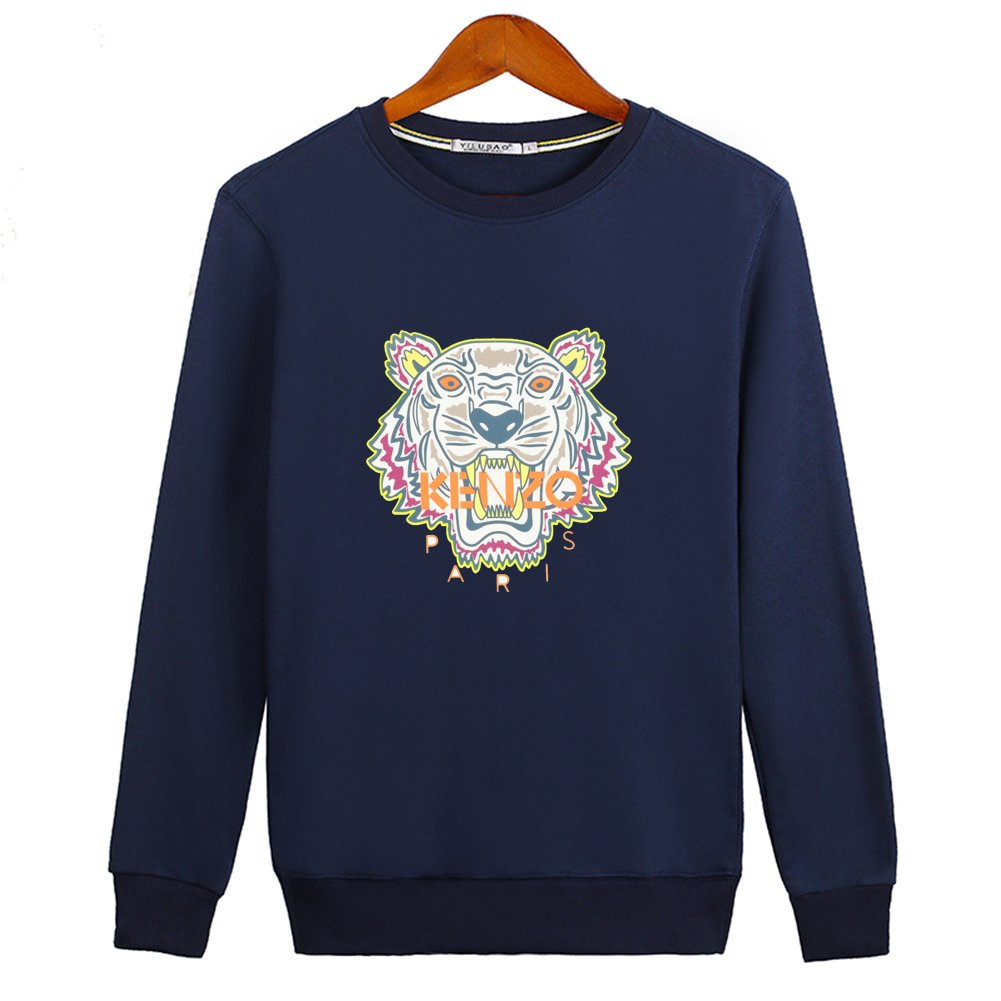 61b2d8c2 Pop KENZO Tiger Head For Ladies Womens Crew Long Sleeve Sweatshirt Pullover  Outlet: Amazon.co.uk: Clothing