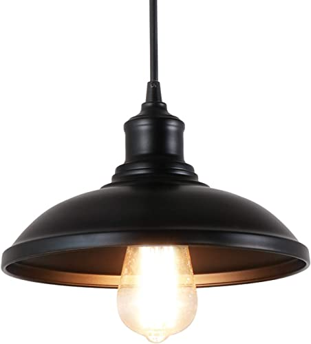Giluta Adjustable Industrial Pendant Lighting of Rustic Vintage Ceiling Hanging Light Fixture with Indoor Antique Edison Style and Retro Look Indoor for Kitchen Dining Room Farmhouse 1 Light