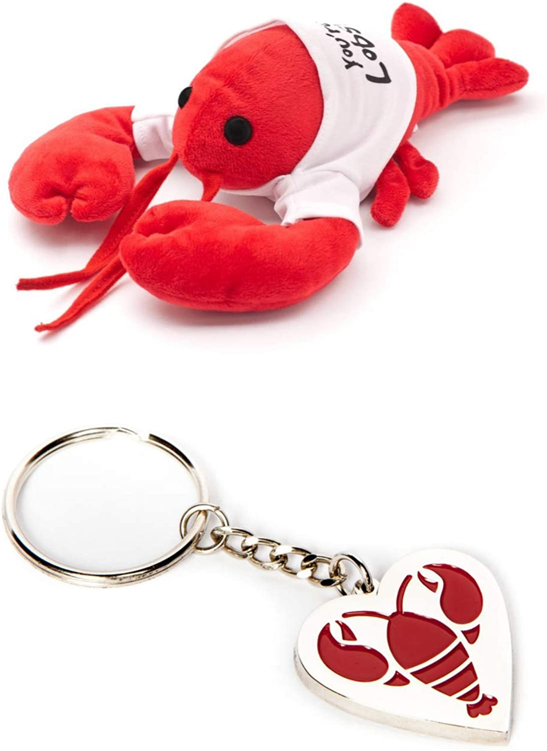 Friends Lobster Plush and Keychain – You're My Lobster Stuffed Animal Toy and Keychain – Cool TV Props Friends Merchandise – Romantic Bundle
