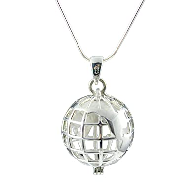 URBAN SHe Love the Earth 925 Sterling Silver Globe Earth