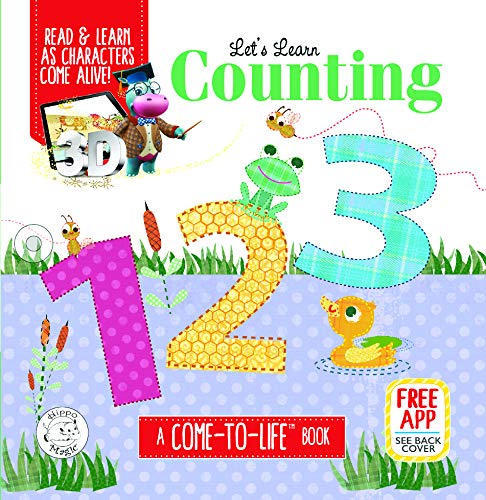 Let's Learn Counting 123 | Augmented Reality | Come-to-Life Book | Padded Board Learning Book