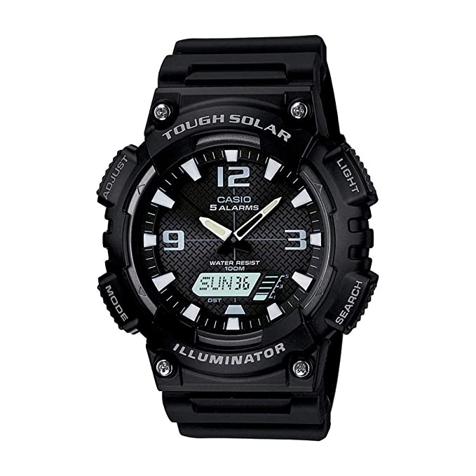 front facing Casio Sport Combination Solar Watch