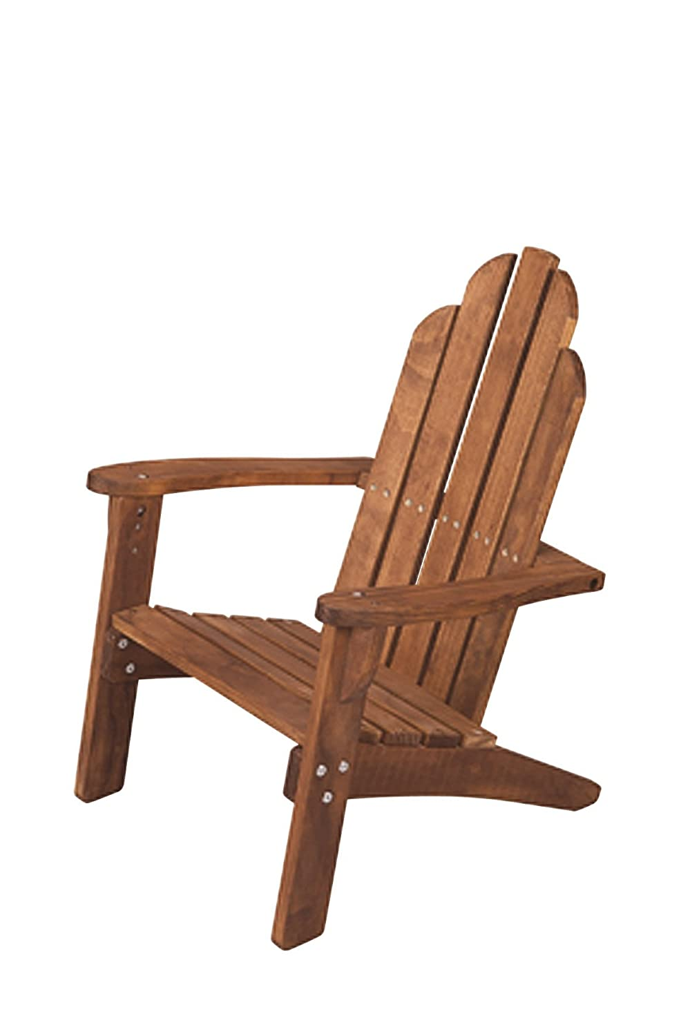 Amazon.com: Maxim Childu0027s Adirondack Chair. Kids Outdoor Wood Patio  Furniture For Backyard, Lawn U0026 Deck: Toys U0026 Games
