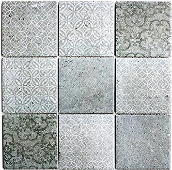 Keramik Mosaik schwarz Fliese Retro Vintage Wand Küche Bad Dusche 22B-0303/_f