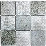 1/arco mosaico azulejos cer/ámica Shabby Chic Grey