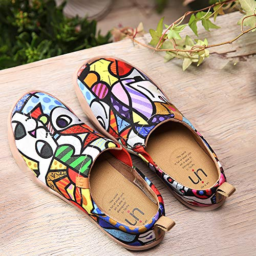 Canvas Loafer Charming Painted Uin Women's Shoe Slip On Cat 560I5Cwxq