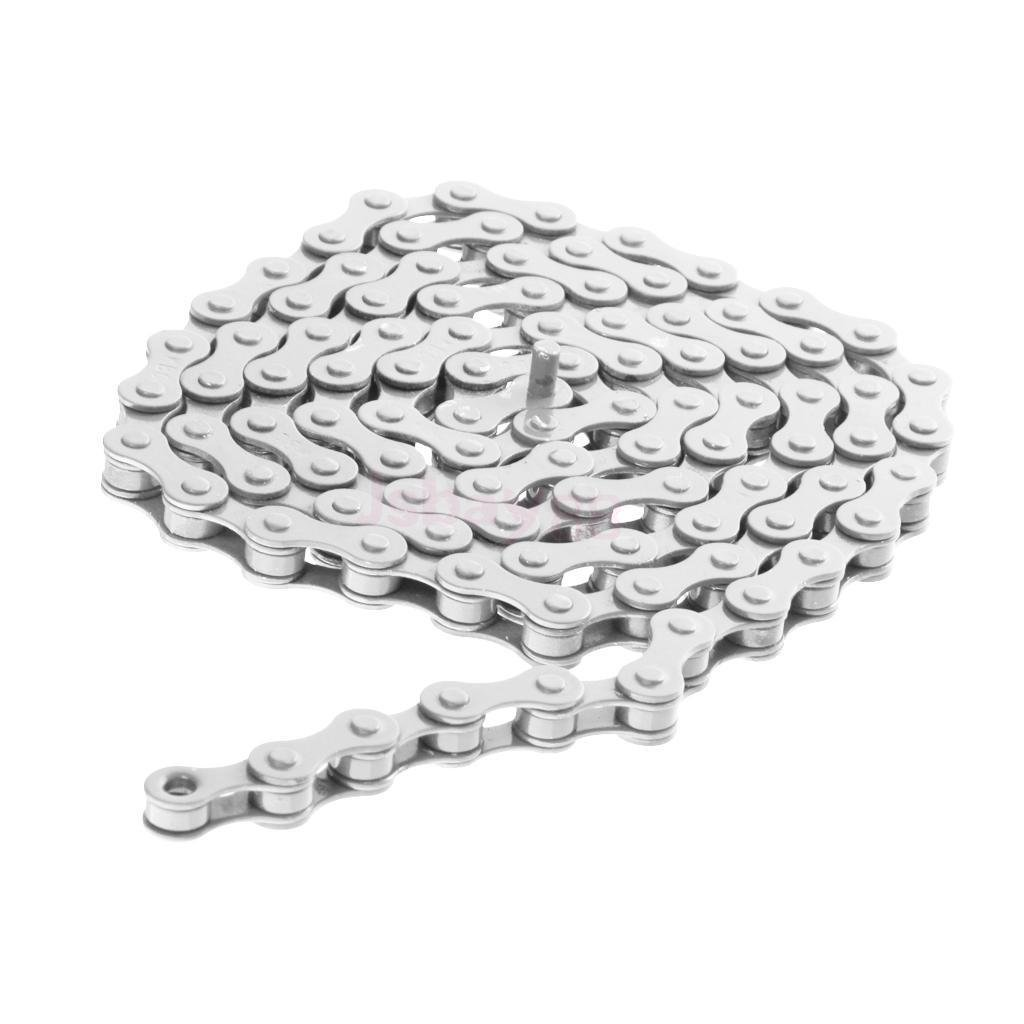 FidgetFidget Bike Chain Single Speed Bicycle Chain 1/2'' X 1/8'' WHITE