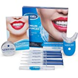 Furein Smile Advanced Teeth Whitening Gel Kit with Remineralization Gel +Activated Natural Charcoal Teeth Whitening Powder 18% Carbamide Peroxide Professional Whitening System for Home Use