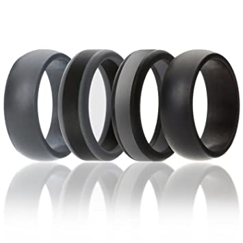 ARUA Silicone Weddings Rings for Men 3-PACK. Comfortable and
