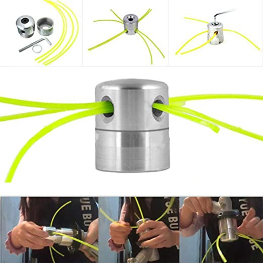 Wankd - Cabezal universal de aluminio para desbrozadora de césped ...