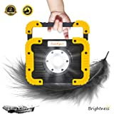 Portable LED Work Light with Stand Auto COB LED Work Light with Battery Operated for Garage Auto Repair Roadside Safety Fishing