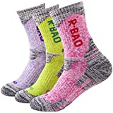 Kalily Outdoor Crew Cushioned Socks for Women - Pack of 3 Pairs (6 Pieces)