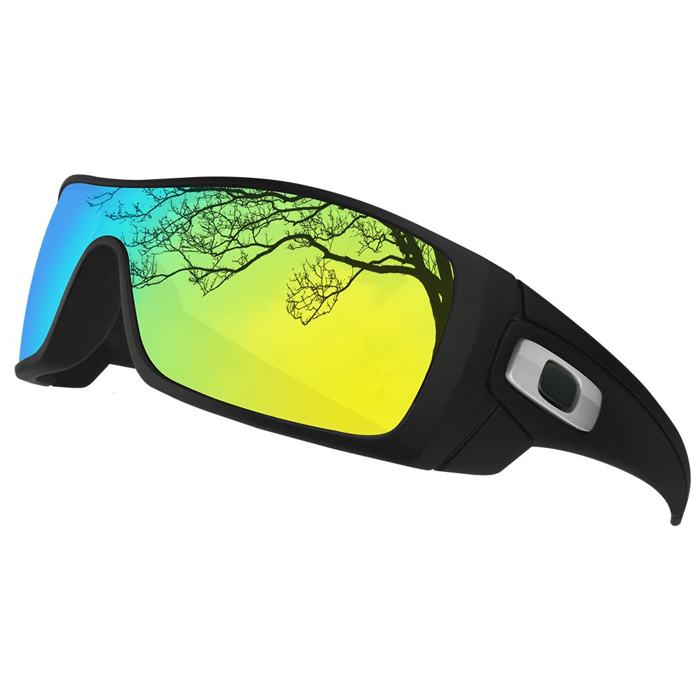 4793ff1fcaaba Amazon.com  Dynamix Polarized Replacement Lenses for Oakley Batwolf -  Multiple Options (24K Gold