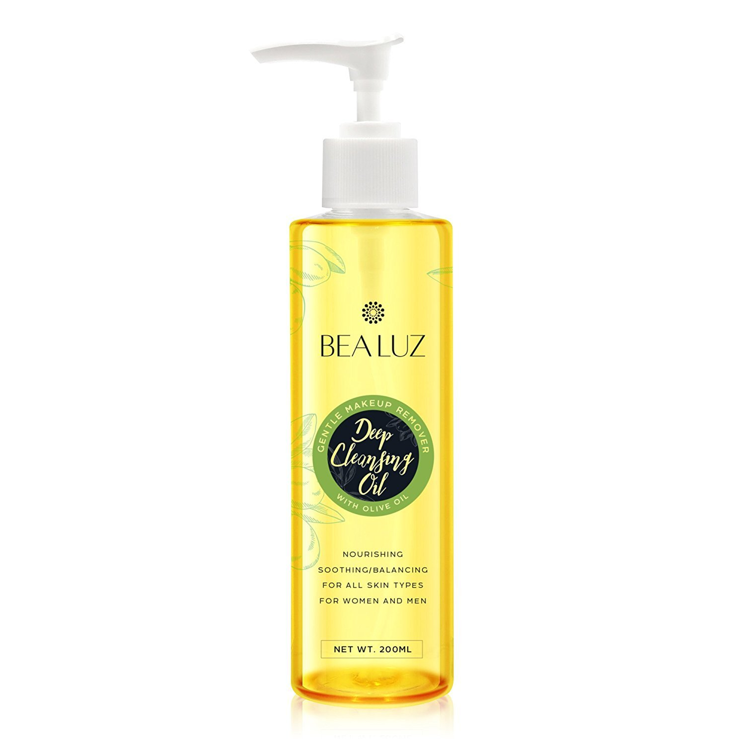 100% Pure & Natural Face & Eye Makeup Remover, Cleansing Oil - Reduces Appearance of Acne Scars & Stretch Marks - Ultra Lightweight